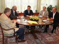 Встреча Медведева с лидерами думских фракций