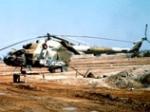 В Казахстане порыв ветра подхватил военный вертолет